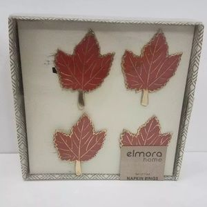 Other - Leaf Napkin Rings New